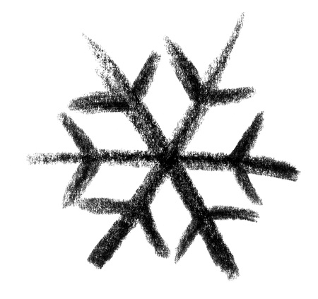 raspy: crayon-sketched illustration of a snowflake