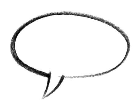 speech balloon: crayon-sketched illustration of a speech bubble