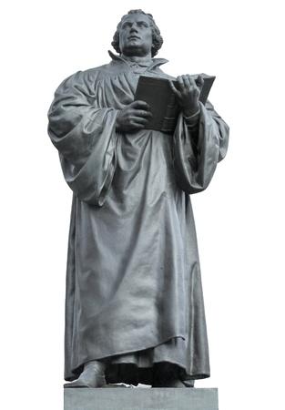 Martin Luther Denkmal in Erfurt, eine Stadt in Thüringen Deutschland Standard-Bild - 19158296