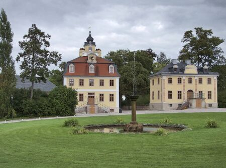 clouded: schloss belvedere in Weimar, a city in Thuringia