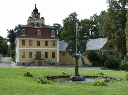 part of the Schloss Belvedere in Weimar, a city in Thuringia  Germany  photo
