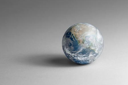globe  the terrestrial ball: a virtual globe ball in grey back