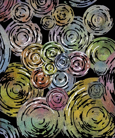 abstract picture painted by me named Discuses Stock Photo - 21694540