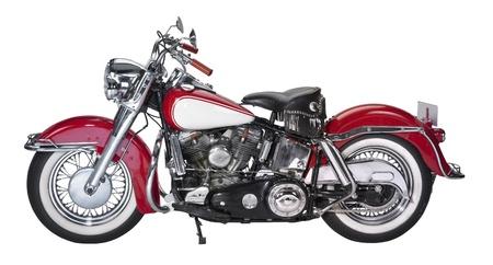 Historische Motorrad in Weiß zurück Standard-Bild - 21947279