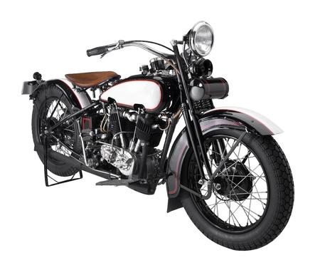 Historischen Motorrad in Weiß zurück Standard-Bild - 21947282