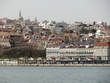 riparian: Panoramic view of Lisbon, the capital city of Portugal