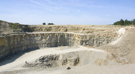 stone pit scenery in Southern Germany at summer time photo