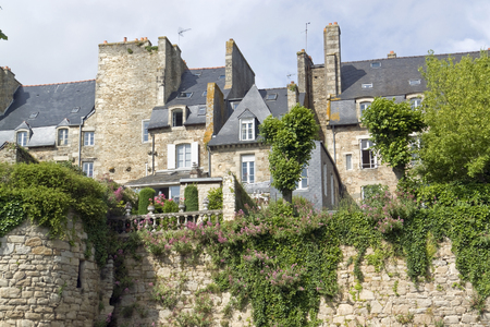 dinan: town view of Dinan, a breton town in northwestern France Stock Photo