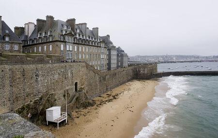 st malo: coastal scenery around Saint-Malo, a port city in northwestern France Stock Photo