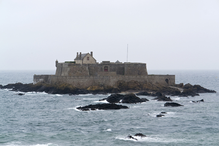 st malo: Fort National near Saint-Malo, a port city in northwestern France