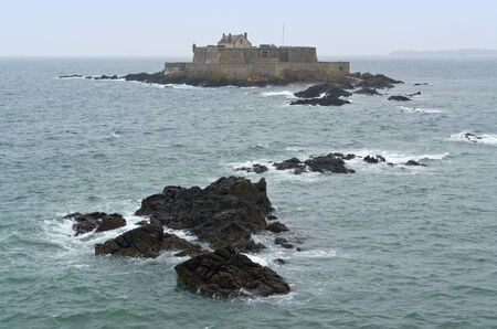 Fort National near Saint-Malo, a port city in northwestern France photo