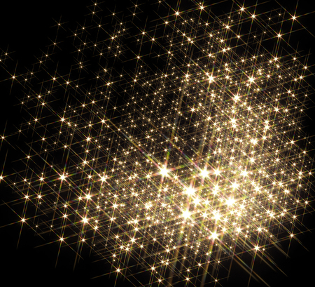 agglomeration: agglomeration with lots of shiny stars in black back