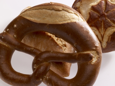 lye: german lye rolls and bread roll in light back