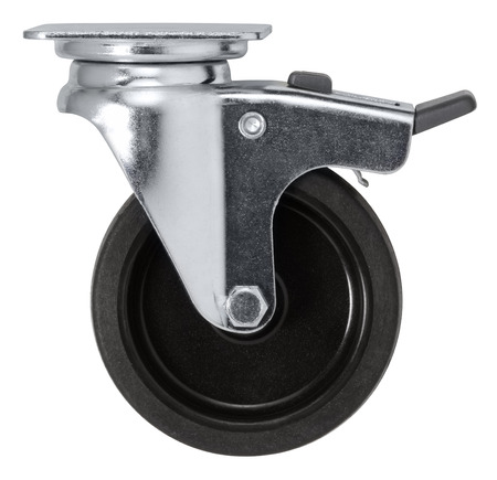 a caster wheel in white back
