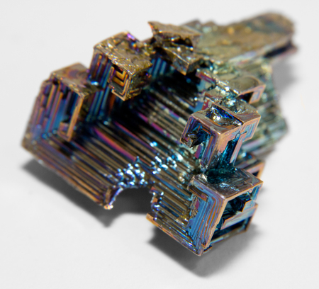 bismuth: a multicolored Bismuth crystal in light back