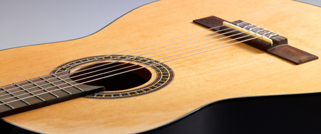 inlays: detail of a classic guitar Stock Photo