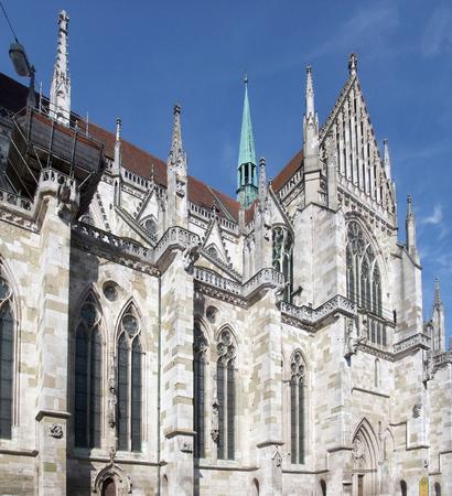 regensburg: detail of the Regensburg Cathedral in Regensburg, a city in Bavaria  Germany