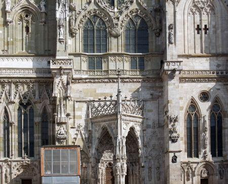 detail of the Regensburg Cathedral in Regensburg, a city in Bavaria  Germany  photo