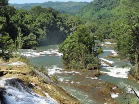 The Blue-water Falls in the Mexican state of Chiapas