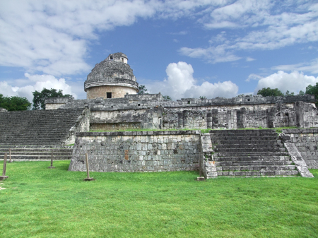 El Caracol observatory templein Chichen the Itza archaeological site in Yucatan, Mexico photo