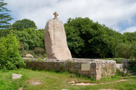 the Menhir of Saint-Uzec in Brittany, France