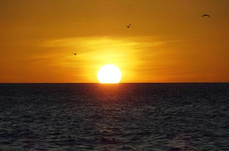 gulf of mexico: idyllic sunset scenery at the Gulf of Mexico Stock Photo