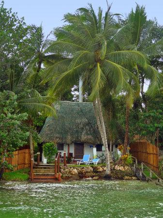 Idyllic mayan house near the lagoon of Bacalar in Mexico