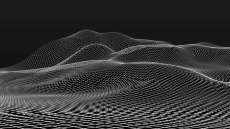 wire mesh: wire mesh scenery in black back