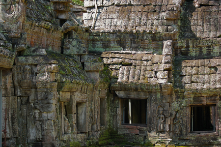 detail of the Angkor Wat temple complex in Cambodia photo