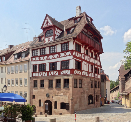 albrecht: cityl view of Nuremberg in Bavaria (Middle Franconia, Germany) with Albrecht D