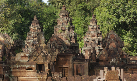 scenery at Banteay Srei, a historic temple in Cambodia photo