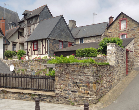 half timbered: architectural view of a breton village in France
