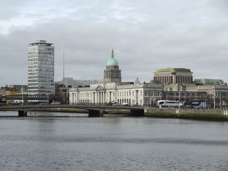 leinster: The Custom House in Dublin, Ireland Stock Photo