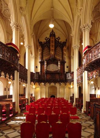 inside of a ornamented church in Dublin, Ireland