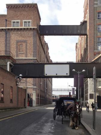 leinster: the Crane Street in Dublin, Ireland Stock Photo