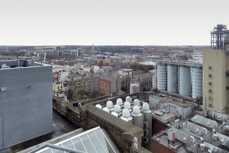 leinster: high angle view of Dublin, the capital city of Ireland