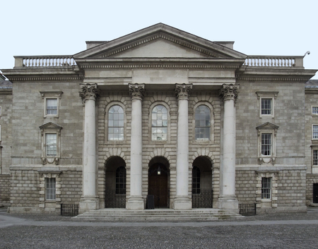 leinster: historic building in Dublin, the capital city of Ireland Stock Photo
