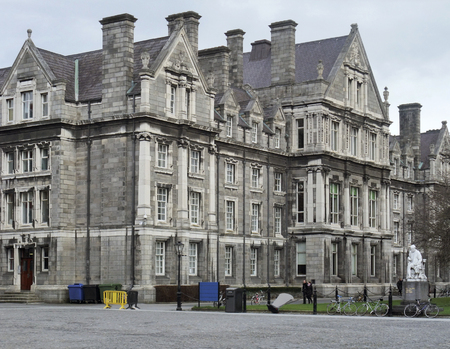 historic buildings in Dublin, the capital city of Ireland photo