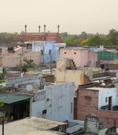 uttar: city named Agra in Uttar Pradesh, India Stock Photo