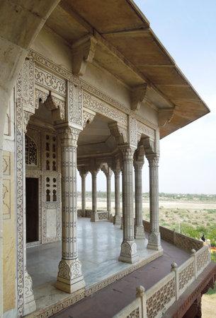 uttar pradesh: detail of a historic building in Agra in Uttar Pradesh, India Editorial