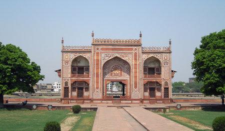 uttar pradesh: gate at the Tomb of Itimad-ud-Daulah in Agra in Uttar Pradesh, India