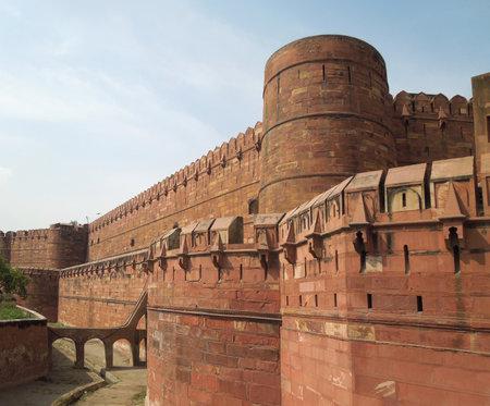 uttar pradesh: the Agra Fort in Agra in Uttar Pradesh, India Editorial