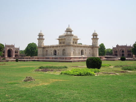 latticework: Tomb of Itimad-ud-Daulah in Agra in Uttar Pradesh, India Editorial
