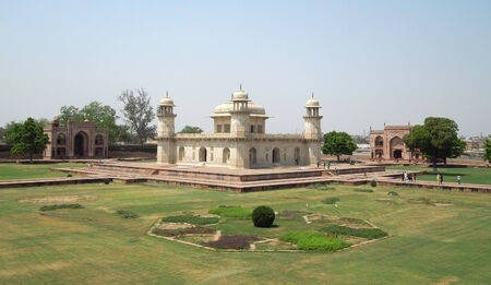 uttar: Tomb of Itimad-ud-Daulah in Agra in Uttar Pradesh, India Editorial