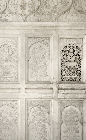 ka: architectural detail around the Bibi Ka Maqbara (Tomb of the Lady) in the state Maharashtra located in India Stock Photo
