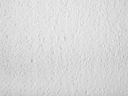 styrene: Full frame closeup of a white Polystyrene surface