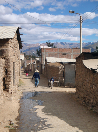 nger: small village at Colca Canyon in Peru (South America)