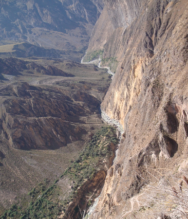 nger: Andes scenery at Colca Canyon in Peru (South America)