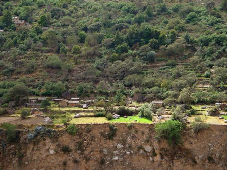 nger: small settlement at Colca Canyon in Peru (South America)