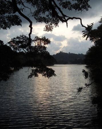 waterside: waterside scenery in Sri Lanka at evening time